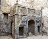 Camera 22 nel resti di Ercolano Parco Archeologico di Ercolano Fotografia Stock Libera da Diritti