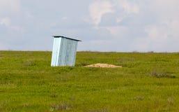 Camera nelle steppe del Kazakistan Immagine Stock