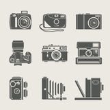 Camera new and retro icon Stock Photo
