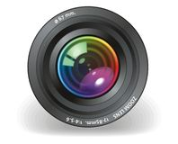Camera objective. Vector illustration of Camera objective Stock Image