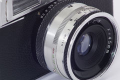 Camera. Old photo camera analog of 35 millimeters Stock Images