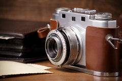 Camera and old pictures album, old memories Stock Photo