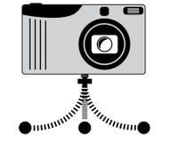 Camera op driepoot Royalty-vrije Stock Afbeeldingen