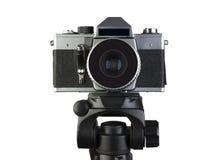 Camera op een driepoot Stock Foto's