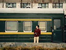 Camera op het platform Royalty-vrije Stock Fotografie