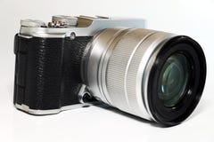 Camera op witte achtergrond stock foto's