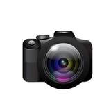 Camera op witte achtergrond. Vector Stock Afbeeldingen