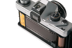Camera with open back door Royalty Free Stock Image