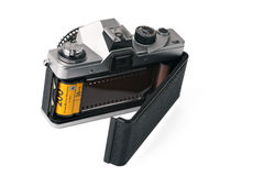 Camera with open back door Royalty Free Stock Images