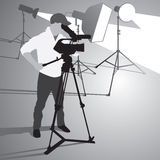 Camera operator Royalty Free Stock Images