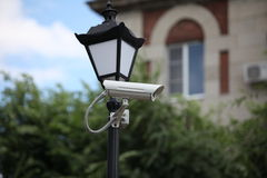 Camera outdoor surveillance Royalty Free Stock Images