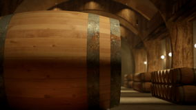 Camera Paning on a Winery Warehouse