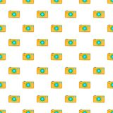 Camera pattern, cartoon style Stock Image
