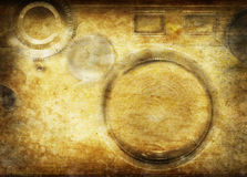 Camera pattern on old grunge paper Royalty Free Stock Photos