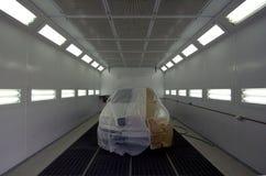 Camera per le automobili di verniciatura Immagine Stock