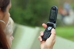 Camera phone. Camera cell phone being used Stock Photography