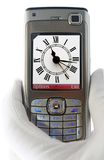 Camera phone. Picture of old clock royalty free stock images