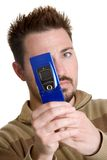 Camera Phone Man Stock Images