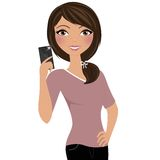 Camera phone woman Royalty Free Stock Images