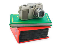 Camera and photo albums Royalty Free Stock Photos
