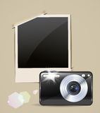 Camera and photo frame Royalty Free Stock Photography