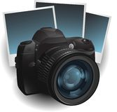 Camera photo illustration Royalty Free Stock Image
