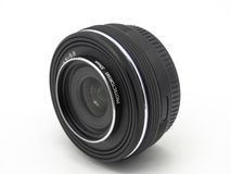 Camera photo lens. Lens digital camera close up isolated on white background.  stock images