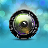 Camera photo lens,lens illustration Stock Photos