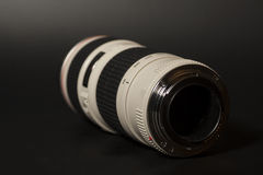 Camera photo lens over black Stock Photography