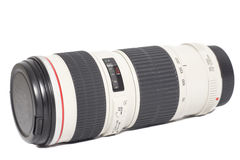 Camera photo lens over white Royalty Free Stock Photos