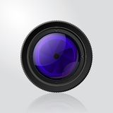 Camera photo lens with shutter. Stock Image