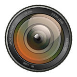 Camera photo lens vector illustration. Stock Images