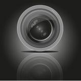 Camera photo lens, vector. Camera lens vector illustration with realistic reflections. Camera photo lens shutter Camera photo lens equipment. Camera photo lens Stock Photography