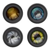 Camera photo lens Stock Photos