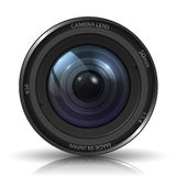 Camera photo lens. On white background. Photo-realistic Stock Photo
