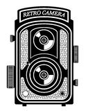 Camera photo old retro vintage icon stock vector illustration Stock Images