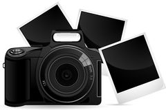 Camera with Photograph Stock Images