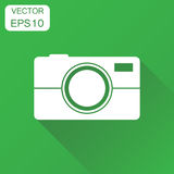Camera photographer icon. Business concept photography camera pi Stock Images