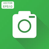 Camera photographer icon. Business concept photography camera pi Stock Photos