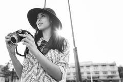 Camera Photographer Inspiration Journey Style Concept Royalty Free Stock Images