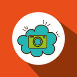 Camera photographic cloud icon Stock Photography