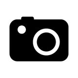 camera photographic  isolated icon design Royalty Free Stock Photo
