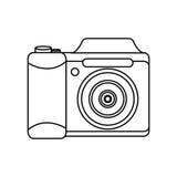 Camera photographic isolated icon Stock Photo