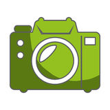Camera photographic isolated icon Royalty Free Stock Photography