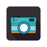 Camera photographic isolated icon Royalty Free Stock Photo