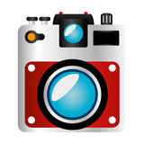 Camera photographic isolated icon Royalty Free Stock Images