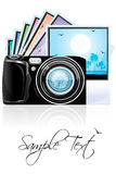Camera with photographs Royalty Free Stock Photography