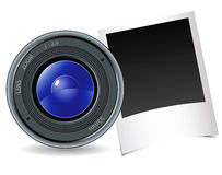 Camera and photography. On a white background Royalty Free Stock Photos