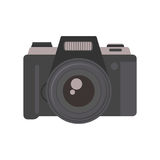 Camera photography equipment lens technology vector. Royalty Free Stock Image