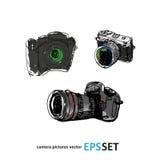 Camera photography  set collection illustration. Logotypes Stock Photo